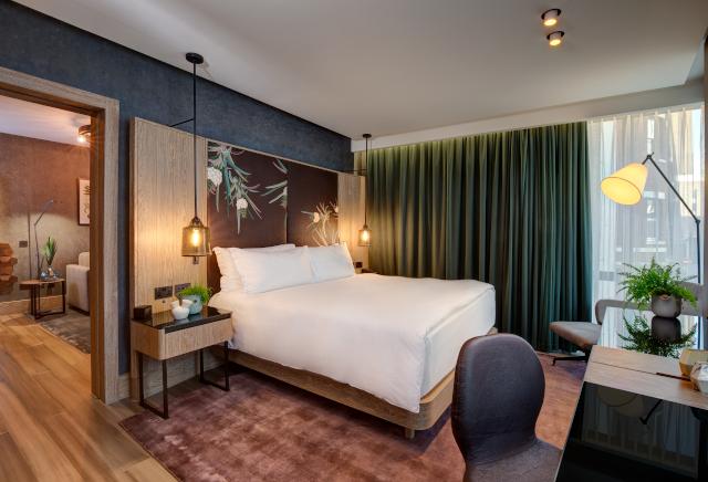 Hilton Bankside Vegan Suite Bedroom