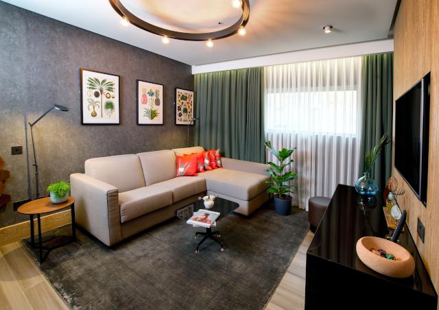 Hilton Bankside Vegan Suite Living Room