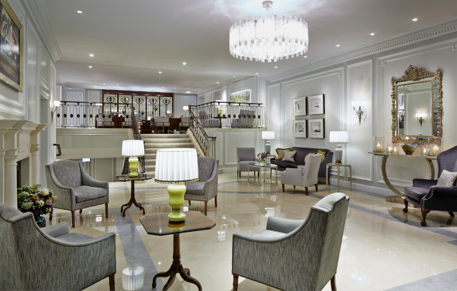 London Marriott Hotel Park Lane Lobby